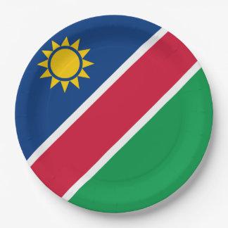 Namibia-Flagge Pappteller