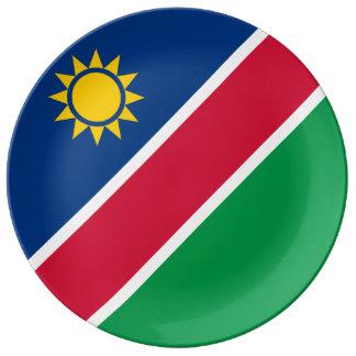 Namibia-Flagge Porzellanteller