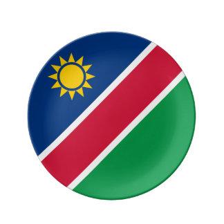 Namibia-Flagge Teller