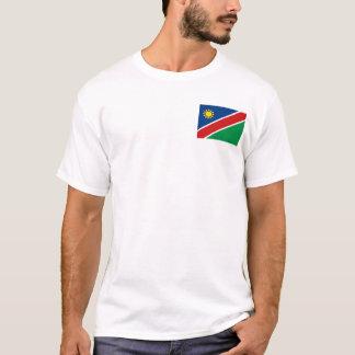 Namibia-Flagge und Karten-T - Shirt