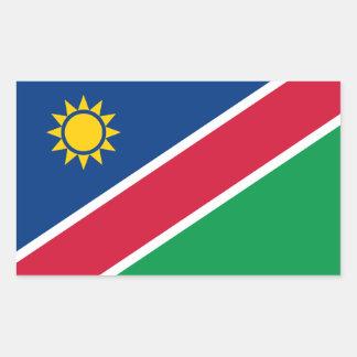 Namibia-Flaggen-Aufkleber Rechteckiger Aufkleber