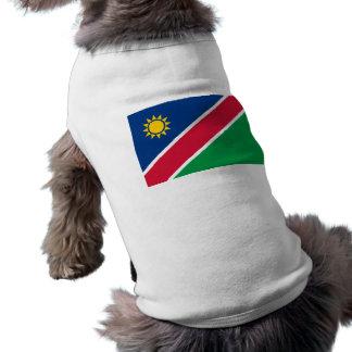 Namibia-Flaggen-Hundet-stück - spezieller Antrag Hund T-shirt