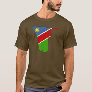 Namibia-Flaggenkarte T-Shirt