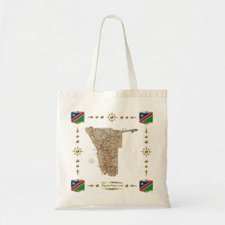 Namibia-Karte + Flaggen-Tasche Tragetasche