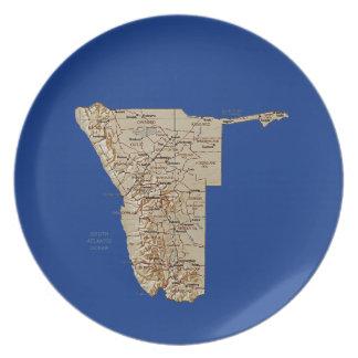 Namibia-Karten-Platte Melaminteller