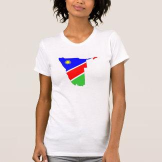 Namibia-Landesflaggekarten-Formsymbol T-Shirt