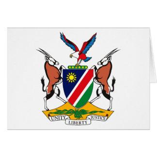 Namibia-Wappen Gruß-Karte Karte