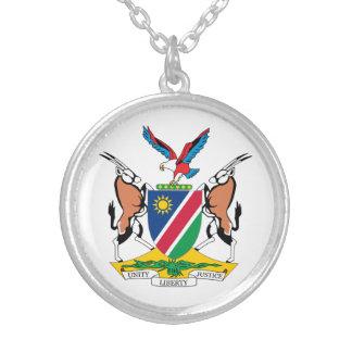 Namibia-Wappen Versilberte Kette