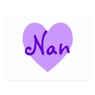 Nan in Lila Postkarte