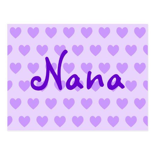 Nana in Lila Postkarte