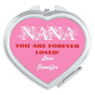 """""""Nana sind Sie für immer geliebte"""" kompakte Taschenspiegel"""