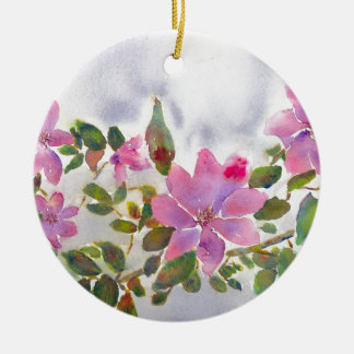 Nanas Rosen Rundes Keramik Ornament