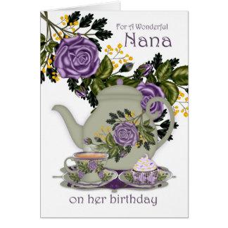 Nanatee-und -kuchen-Geburtstags-Karte Karte