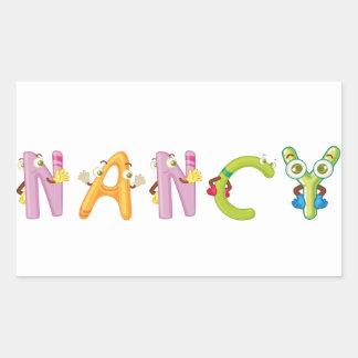 Nancy-Aufkleber Rechteckiger Aufkleber