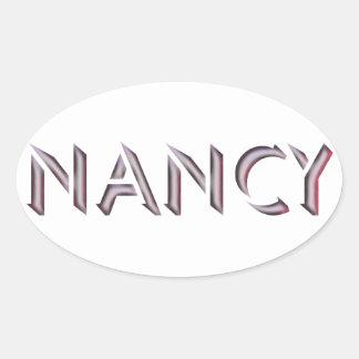 Nancy-Aufklebername Ovaler Aufkleber