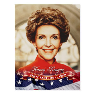 Nancy Reagan, First Lady der US Postkarte