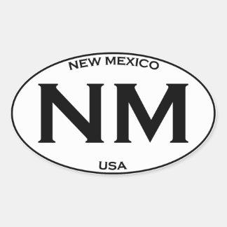 Nanometer - New Mexiko Ovaler Aufkleber