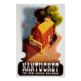 Nantucket das New-Haven Eisenbahn-Vintage Plakat