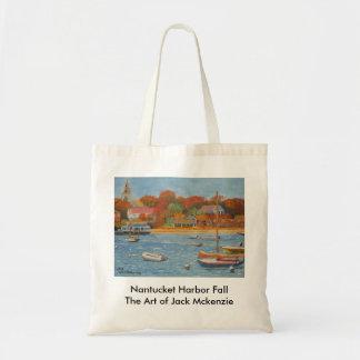 Nantucket Hafen-Fall Tragetaschen