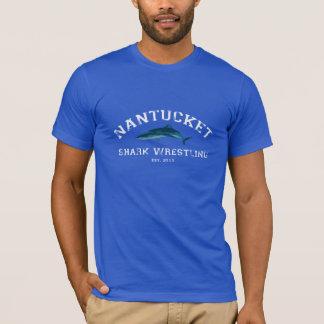 Nantucket Haifisch-Wrestling-T-Stück T-Shirt
