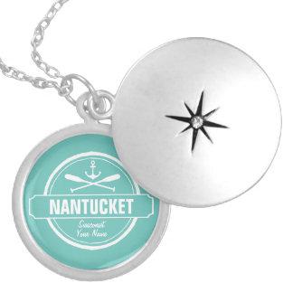 Nantucket, personalisierter Name MAs, Seeanker Medaillon
