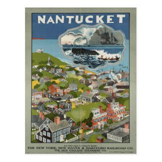 Nantucket Vintage Reise-Postkarte Postkarte