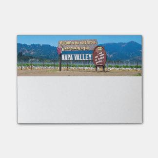 Napa- Valleywein-Land Post-it Klebezettel