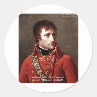 """Napoleon """"1000 Wort-"""" T-Shirts, Tassen, Karten, Runder Aufkleber"""