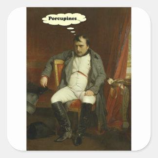 Napoleon denkt an Stachelschweine Quadratischer Aufkleber