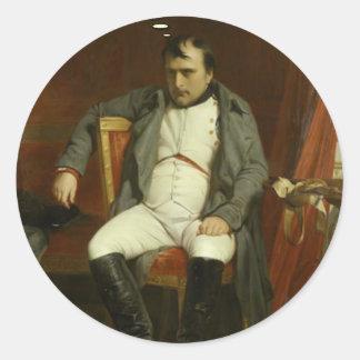 Napoleon denkt an Stachelschweine Runder Aufkleber