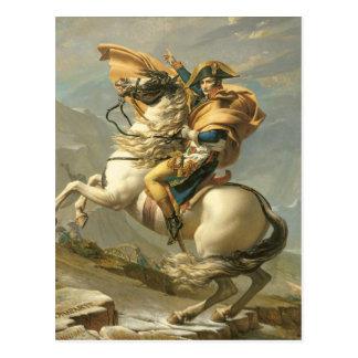 Napoleon, der die Alpen beim Bernhardiner Postkarte