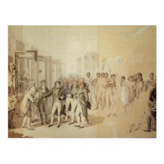 Napoleon I der Sevene Brüder besuchend Postkarte