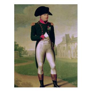 Napoleon I vor dem Chateau de Malmaison Postkarte