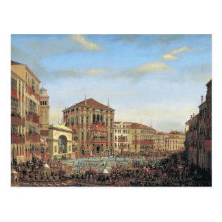 Napoleon I vorsitzend einem Regatta in Venedig Postkarte
