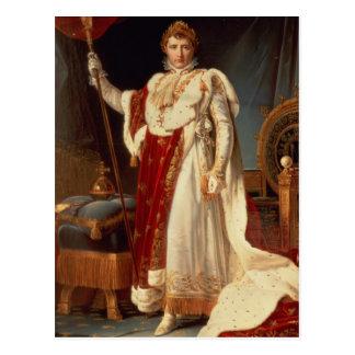 Napoleon in den Krönungs-Roben, c.1804 Postkarte