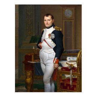 Napoleon in seiner Studie Postkarte