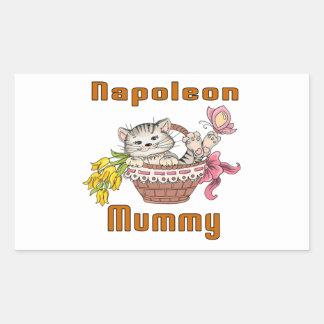 Napoleon-Katzen-Mamma Rechteckiger Aufkleber