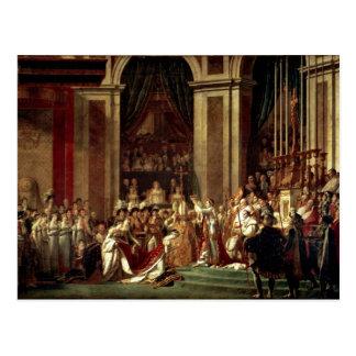 Napoleon krönte Kaiserin Josephine durch David Postkarte