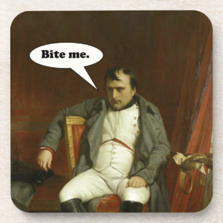 Napoleon sagt:  Beißen Sie mich Getränkeuntersetzer