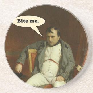 Napoleon sagt:  Beißen Sie mich Untersetzer