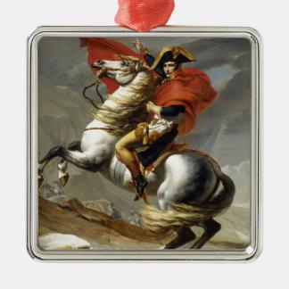 Napoleon überquerte die Alpen Quadratisches Silberfarbenes Ornament