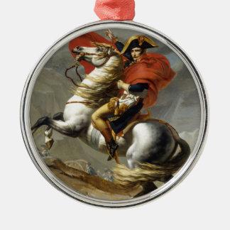 Napoleon überquerte die Alpen Rundes Silberfarbenes Ornament