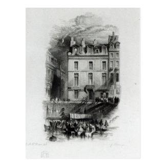 Napoleons Unterkünfte auf dem Quai Conti, 1834-36 Postkarte