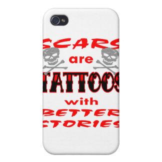 Narben sind Tätowierungen mit besseren Geschichten iPhone 4/4S Hülle