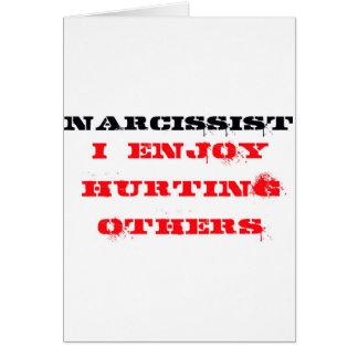 Narcissist-Definition Grußkarte