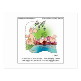 NARCISSIST-FRAU Postkarte bis April McCallum