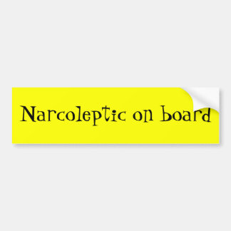 Narcoleptic an Bord Autoaufkleber