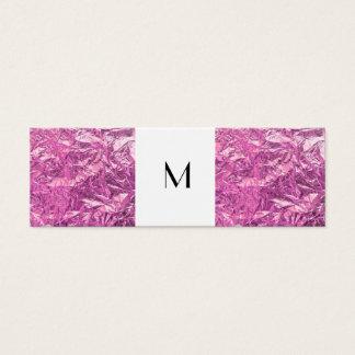 Narror Telefonkarte-Monogramm und rosa Mini Visitenkarte