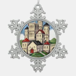 NARROWBOATS SCHNEEFLOCKEN Zinn-Ornament