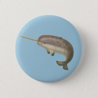 Narwhal Knopf Runder Button 5,7 Cm